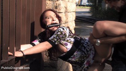 Photo number 6 from Olga shot for Public Disgrace on Kink.com. Featuring Olga Cabaeva in hardcore BDSM & Fetish porn.