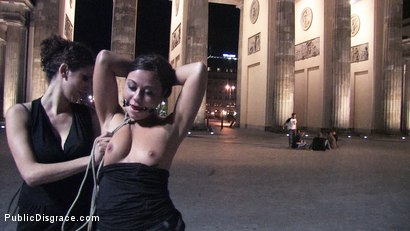 Photo number 1 from Beautiful Czech girl exposed on the streets at night!!! shot for Public Disgrace on Kink.com. Featuring Linda in hardcore BDSM & Fetish porn.