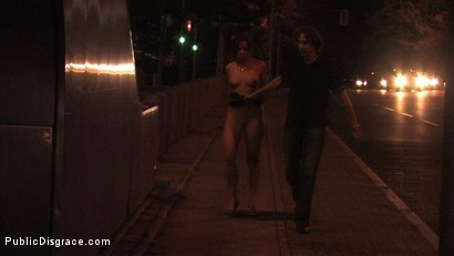 Photo number 6 from Beautiful Czech girl exposed on the streets at night!!! shot for Public Disgrace on Kink.com. Featuring Linda in hardcore BDSM & Fetish porn.