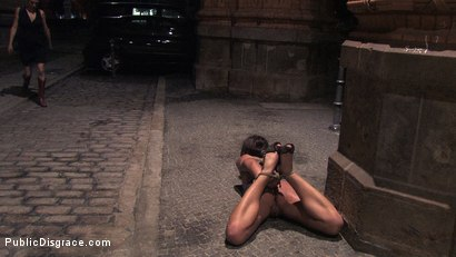 Photo number 3 from Beautiful Czech girl exposed on the streets at night!!! shot for Public Disgrace on Kink.com. Featuring Linda in hardcore BDSM & Fetish porn.