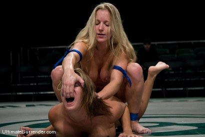 """Photo number 15 from Dia Zerva """"Iron Maiden""""  (0-0) <br>vs<br>Trina Michaels """"Passion"""" (0-1) shot for Ultimate Surrender on Kink.com. Featuring Trina Michaels and Dia Zerva in hardcore BDSM & Fetish porn."""