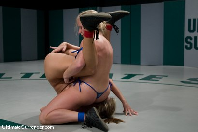 """Photo number 9 from Dia Zerva """"Iron Maiden""""  (0-0) <br>vs<br>Trina Michaels """"Passion"""" (0-1) shot for Ultimate Surrender on Kink.com. Featuring Trina Michaels and Dia Zerva in hardcore BDSM & Fetish porn."""