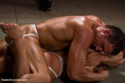 Photo number 3 from Fabrizio Mangiatti vs Rick Bauer shot for Naked Kombat on Kink.com. Featuring Rick Bauer and Fabrizio Mangiatti in hardcore BDSM & Fetish porn.