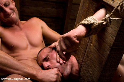 Photo number 5 from Medieval Budapest shot for Bound Gods on Kink.com. Featuring Rod Stevans and James Jorden in hardcore BDSM & Fetish porn.