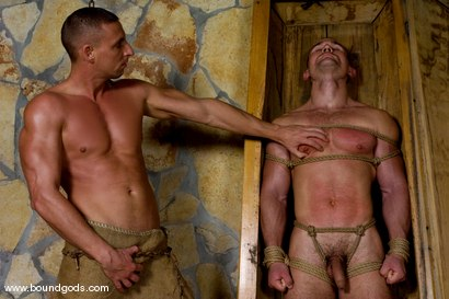 Photo number 1 from Medieval Budapest shot for Bound Gods on Kink.com. Featuring Rod Stevans and James Jorden in hardcore BDSM & Fetish porn.