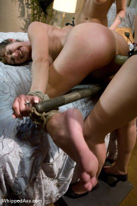 Photo number 12 from The Gift shot for Whipped Ass on Kink.com. Featuring Felony, Bobbi Starr and Hollie Stevens in hardcore BDSM & Fetish porn.