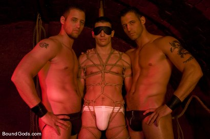 Photo number 2 from The Mangiatti Twins in Budapest shot for Bound Gods on Kink.com. Featuring James Jones, Fabrizio Mangiatti and Maurizio Mangiatti in hardcore BDSM & Fetish porn.