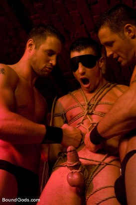Photo number 4 from The Mangiatti Twins in Budapest shot for Bound Gods on Kink.com. Featuring James Jones, Fabrizio Mangiatti and Maurizio Mangiatti in hardcore BDSM & Fetish porn.