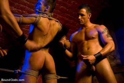 Photo number 5 from The Mangiatti Twins in Budapest shot for Bound Gods on Kink.com. Featuring James Jones, Fabrizio Mangiatti and Maurizio Mangiatti in hardcore BDSM & Fetish porn.