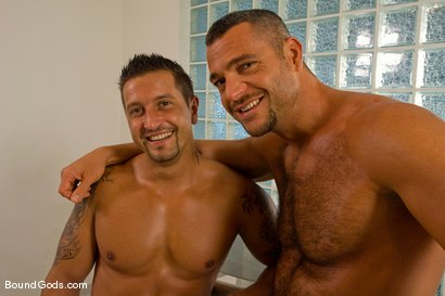 Photo number 15 from Master Sergio and slave claudio shot for Bound Gods on Kink.com. Featuring Claudio Antonelli and Sergio Soldi in hardcore BDSM & Fetish porn.
