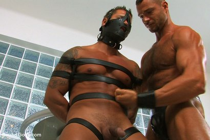 Photo number 7 from Master Sergio and slave claudio shot for Bound Gods on Kink.com. Featuring Claudio Antonelli and Sergio Soldi in hardcore BDSM & Fetish porn.