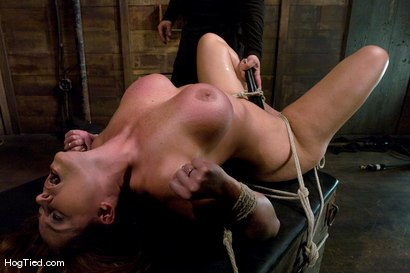 Photo number 8 from Christine is back for more screaming orgasms shot for Hogtied on Kink.com. Featuring Christina Carter in hardcore BDSM & Fetish porn.
