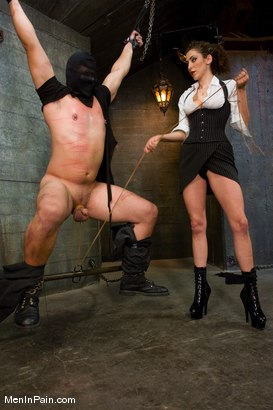 Photo number 5 from The Fucking Machine shot for Men In Pain on Kink.com. Featuring Princess Donna Dolore and Orlando in hardcore BDSM & Fetish porn.