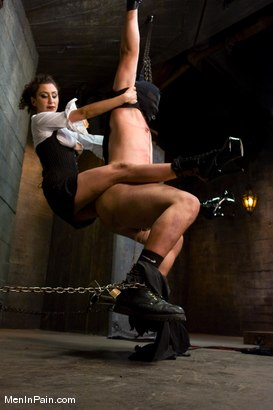 Photo number 6 from The Fucking Machine shot for Men In Pain on Kink.com. Featuring Princess Donna Dolore and Orlando in hardcore BDSM & Fetish porn.