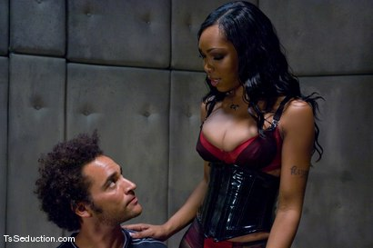Photo number 5 from The Interrogation shot for TS Seduction on Kink.com. Featuring Sexy Jade and Le Rock in hardcore BDSM & Fetish porn.