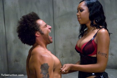 Photo number 8 from The Interrogation shot for TS Seduction on Kink.com. Featuring Sexy Jade and Le Rock in hardcore BDSM & Fetish porn.