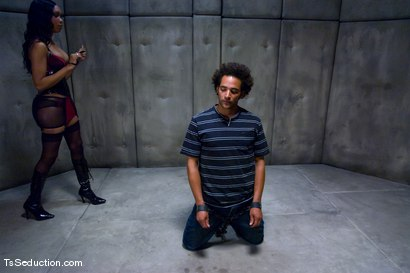 Photo number 4 from The Interrogation shot for TS Seduction on Kink.com. Featuring Sexy Jade and Le Rock in hardcore BDSM & Fetish porn.