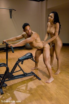 Photo number 12 from Sex-er-cise shot for TS Seduction on Kink.com. Featuring Sexy Jade and Lobo in hardcore BDSM & Fetish porn.
