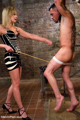 Photo number 4 from The Name is Maitresse, Don't Fuck it Up shot for Men In Pain on Kink.com. Featuring Rico and Maitresse Madeline Marlowe in hardcore BDSM & Fetish porn.