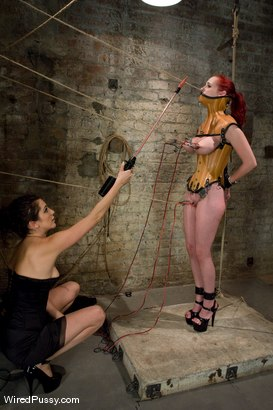 Photo number 2 from The Cattleprod shot for Wired Pussy on Kink.com. Featuring Mz Berlin and Princess Donna Dolore in hardcore BDSM & Fetish porn.