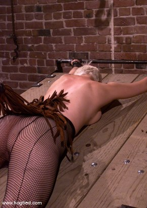 Photo number 2 from Rose and Cowgirl shot for Hogtied on Kink.com. Featuring Rose and Cowgirl in hardcore BDSM & Fetish porn.