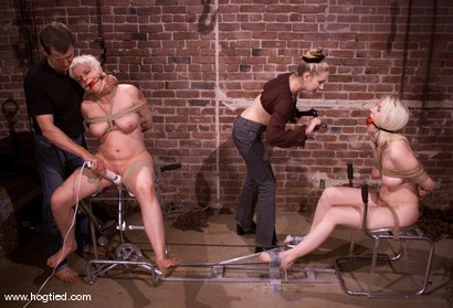Photo number 5 from Rose and Cowgirl shot for Hogtied on Kink.com. Featuring Rose and Cowgirl in hardcore BDSM & Fetish porn.