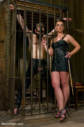 Photo number 1 from She Said 'Service Me' shot for Men In Pain on Kink.com. Featuring Penny Flame and Wolf Hudson in hardcore BDSM & Fetish porn.