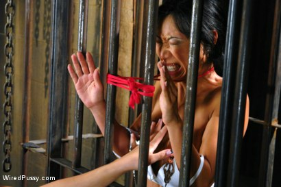Photo number 5 from Hot Asian babe gets her tits shocked by Bobbi Starr shot for Wired Pussy on Kink.com. Featuring Bobbi Starr and Tia Ling in hardcore BDSM & Fetish porn.