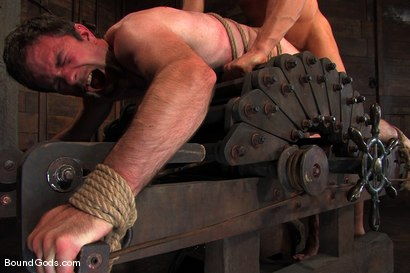 Photo number 13 from The Muscle Slave shot for Bound Gods on Kink.com. Featuring Romario Faria and Dante in hardcore BDSM & Fetish porn.