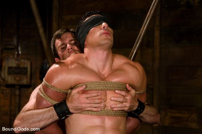 Photo number 2 from The Muscle Slave shot for Bound Gods on Kink.com. Featuring Romario Faria and Dante in hardcore BDSM & Fetish porn.