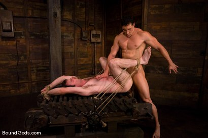 Photo number 12 from The Muscle Slave shot for Bound Gods on Kink.com. Featuring Romario Faria and Dante in hardcore BDSM & Fetish porn.
