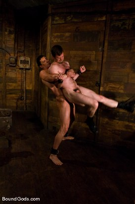 Photo number 8 from The Muscle Slave shot for Bound Gods on Kink.com. Featuring Romario Faria and Dante in hardcore BDSM & Fetish porn.