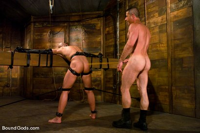 Photo number 7 from Master Nick Moretti and slave chad rock shot for Bound Gods on Kink.com. Featuring Nick Moretti and Chad Rock in hardcore BDSM & Fetish porn.