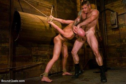 Photo number 5 from Master Nick Moretti and slave chad rock shot for Bound Gods on Kink.com. Featuring Nick Moretti and Chad Rock in hardcore BDSM & Fetish porn.