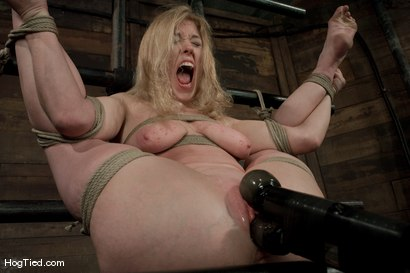Photo number 12 from Darling gives us BLOODY SCREAMING FUCKING ORGASMS over & over & over again! shot for Hogtied on Kink.com. Featuring Dee Williams in hardcore BDSM & Fetish porn.