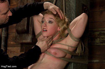 Photo number 4 from Darling gives us BLOODY SCREAMING FUCKING ORGASMS over & over & over again! shot for Hogtied on Kink.com. Featuring Dee Williams in hardcore BDSM & Fetish porn.