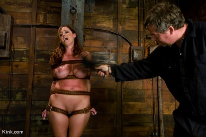 Photo number 3 from Whip or Tickle 3<br />Christina Carter endures her punishment. shot for Kink Raw Test Shoots on Kink.com. Featuring Christina Carter in hardcore BDSM & Fetish porn.