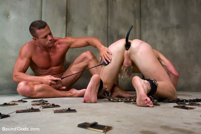 Photo number 5 from The Rat Boy shot for Bound Gods on Kink.com. Featuring Christian Owen and Tyler Saint in hardcore BDSM & Fetish porn.