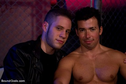 Photo number 15 from The Motorist shot for Bound Gods on Kink.com. Featuring Dominik Rider and Wolf Hudson in hardcore BDSM & Fetish porn.