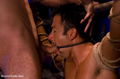 Photo number 5 from The Motorist shot for Bound Gods on Kink.com. Featuring Dominik Rider and Wolf Hudson in hardcore BDSM & Fetish porn.
