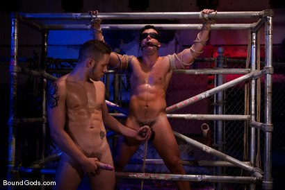 Photo number 9 from The Motorist shot for Bound Gods on Kink.com. Featuring Dominik Rider and Wolf Hudson in hardcore BDSM & Fetish porn.