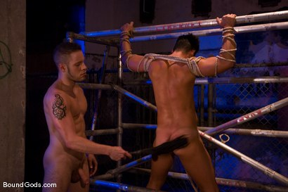 Photo number 7 from The Motorist shot for Bound Gods on Kink.com. Featuring Dominik Rider and Wolf Hudson in hardcore BDSM & Fetish porn.