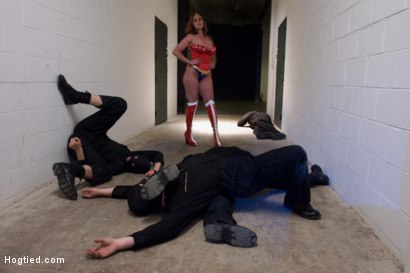 "Photo number 7 from ""OPERATION AMERICANA"" A hogtied Super Hero Feature.<br>America's greatest hero, cumming like a whore shot for Hogtied on Kink.com. Featuring Christina Carter, Riley Rey, Isis Love and Princess Donna Dolore in hardcore BDSM & Fetish porn."