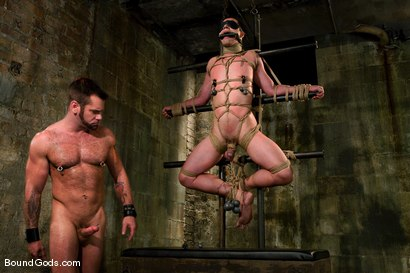 Photo number 8 from Master Tober Brandt and slave brandon hawk shot for Bound Gods on Kink.com. Featuring Tober Brandt and Brandon Hawk in hardcore BDSM & Fetish porn.