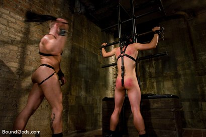 Photo number 1 from Master Tober Brandt and slave brandon hawk shot for Bound Gods on Kink.com. Featuring Tober Brandt and Brandon Hawk in hardcore BDSM & Fetish porn.