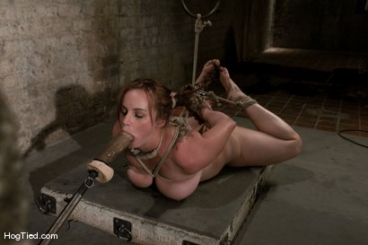 Photo number 10 from Hot Bella double teamed and made to slurp her own squirt shot for Hogtied on Kink.com. Featuring Bella Rossi in hardcore BDSM & Fetish porn.