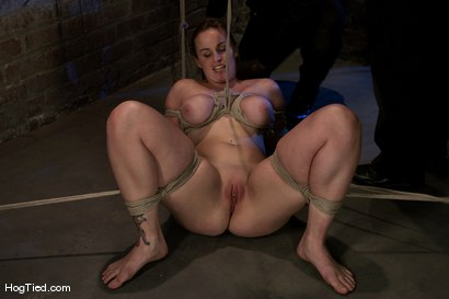 Photo number 6 from Hot Bella double teamed and made to slurp her own squirt shot for Hogtied on Kink.com. Featuring Bella Rossi in hardcore BDSM & Fetish porn.