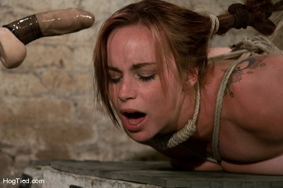 Photo number 11 from Hot Bella double teamed and made to slurp her own squirt shot for Hogtied on Kink.com. Featuring Bella Rossi in hardcore BDSM & Fetish porn.