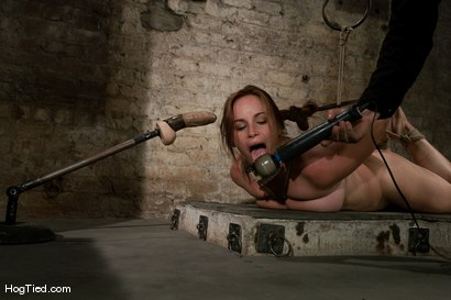 Photo number 13 from Hot Bella double teamed and made to slurp her own squirt shot for Hogtied on Kink.com. Featuring Bella Rossi in hardcore BDSM & Fetish porn.