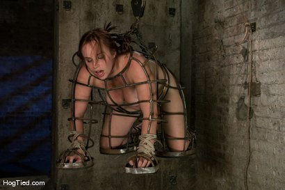 Photo number 4 from Hot Bella double teamed and made to slurp her own squirt shot for Hogtied on Kink.com. Featuring Bella Rossi in hardcore BDSM & Fetish porn.